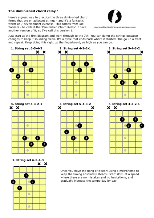 Diminished Chord Relay 1