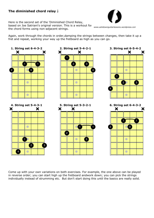 Diminished Chord Relay 2